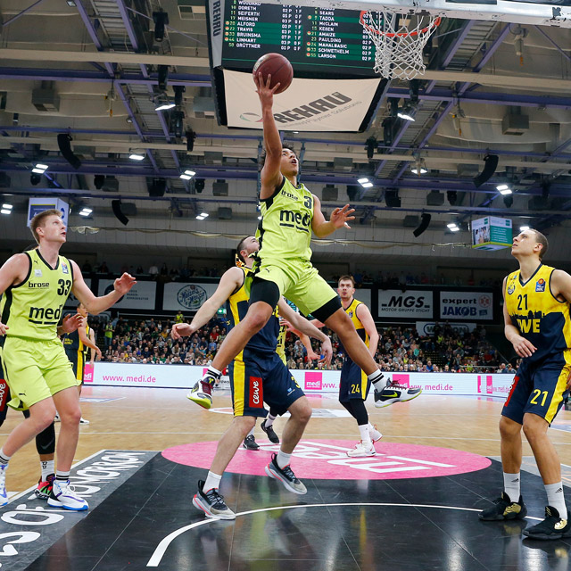 Medi Bayreuth Basketballspiel – © Peter Kolb