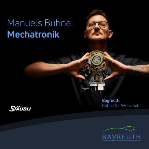 Manuels Bühne: Mechatronik bei Stäubli in Bayreuth
