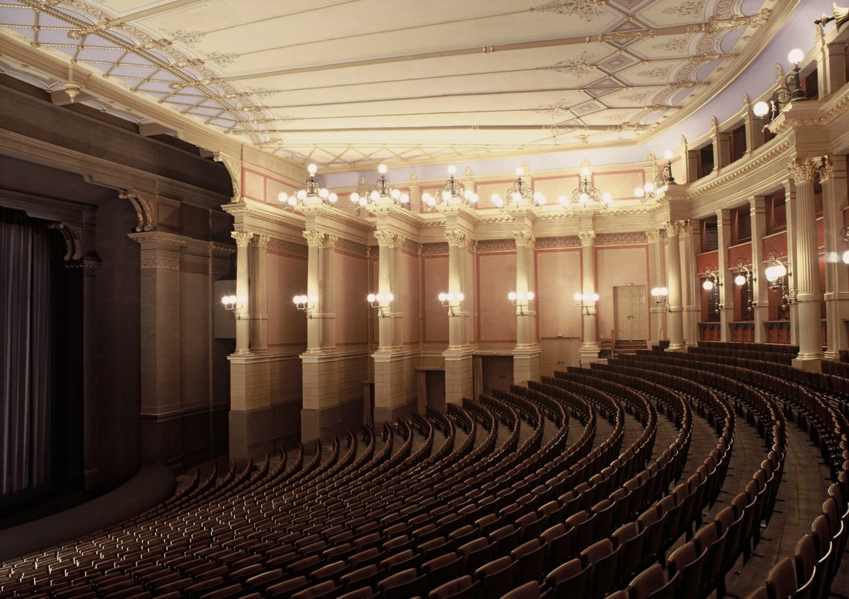 Blick auf Zuschauerraum im Bayreuther Festspielhaus