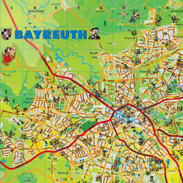 Kinderstadtplan Bayreuth