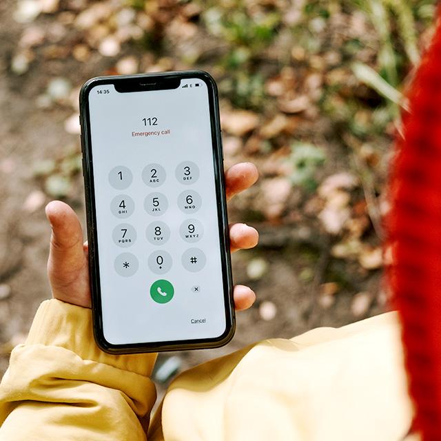 Handy mit 112 im Display